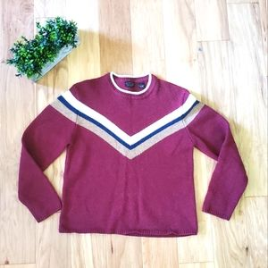 Vintage American Eagle Red Wool Sweater Large
